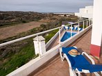 Great views over the Natural Park and Atlantic Ocean from the first floor terrace