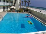 Our large beachfront pool
