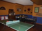 ping pong in game room