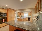 large gourmet kitchen fully equipped