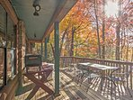 Step on to the deck to bask in the natural beauty.