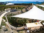 Aloni, the sea-garden with sitting and dining areas