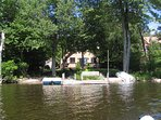 Lake side view of house from Kayak.