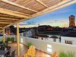 Spectacular rooftop deck!