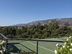 Keep your eye on the ball, as the tennis court that is private to the property has distracting panoramic views.