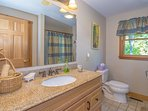 Full Bathroom Main Level with Granite Counters & Closet