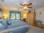 Master Bedroom: 3rd Floor, King Bed with Sitting Area, Log Furniture, TV/DVD &     Full Master Bath