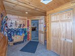 Huge Mud / Ski Room with 2 Large Closets for all those shoes, boots & Jackets