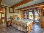 Master Bedroom:  Queen Bed, Tile Floor with Radiant Heat