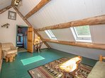 3rd Floor Loft is another Large Living Space w/ Desk, Seating for 5 and Day Bed Set Up (Sleeps 2)