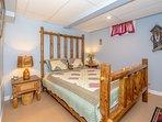 The Log Bedroom:  Queen Bed