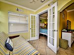 Sunroom has access to the bedroom