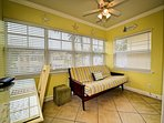 Sunroom is perfect place to relax