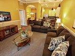 Living Area w/Ceiling Fan & Sofa Sleeper - View #4