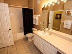 Shared Hall Bath w/Shower & Tub Combination