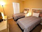 Twin bedroom, shared bath, TV