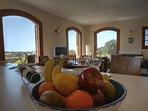 Kitchen bar views