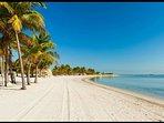 The beach of Key Biscayne.