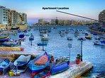 Apartment location on Spinola Bay