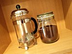 Kitchen: ground coffee and a cafetiere are provided to help you start your day.
