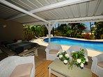 pool and terrace villa philibert