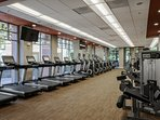 Your fitness center with multiple machines, no waiting here!