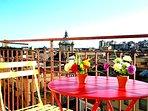 balcone con vista sul mare e porto di Licata