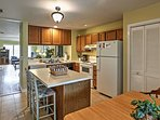 The fully equipped kitchen comes with everything you need to prepare delicious meals.