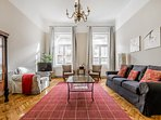 Metres from Opera, balcony 2 bed classical apt.