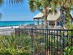 Private beach pavilion w/ restrooms, showers, Bar & Cafe', & beach service