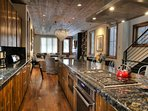 Full gourmet kitchen with lots of countertop space and all cooking appliances.