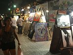 In season on Thursday night, artists set up an Art Walk down Avenida Quinta.  Not to be missed!