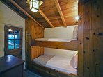 Downstairs Guest Bedroom with Custom Built Bunk Beds
