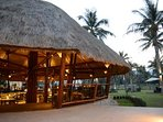 The resort Coconut restaurant. Delicious Thai and European food at great prices.
