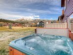 6 Person Hot Springs Hot Tub Rear patio.