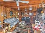 Rustic wildlife decor fills the home!