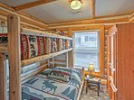 The kids will love choosing between the top and bottom bunk beds!