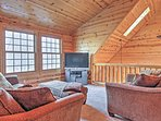 Watch your favorite shows on the flat screen cable TV in the loft!