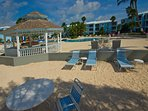 Beach, gazebo, poolside - everything right within the complex.