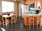 The kitchen is fully outfitted to enjoy cooking and entertaining with your friends and family.