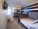 Second bedroom with tri-bunk