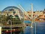 Porto Antico: il Bigo e la Biosfera (conosciuta anche come 'la Bolla di Renzo Piano')