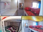 Your second cabin. 2 Double bed for 4 persons. Your second cabin is also installed with aircon :)