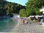 Un bagnetto sulla Spiaggia di Agnontas all'ombra di un Gelso moro.
