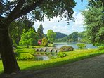 The beautiful Stourhead Gardens is just 15 mins from us.