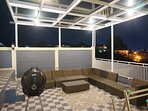 Second floor patio at night to enjoy night city view