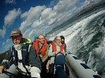 Take a power boat along the coast line