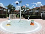 Resort kiddies splash pool