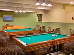 Join the family for a round of pool in the game room