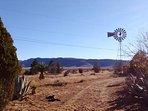 40 acre ranch with spectacular views only 5 minutes from downtown Alpine and 25 minutes from Marfa!